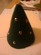 A felt cone turned hat